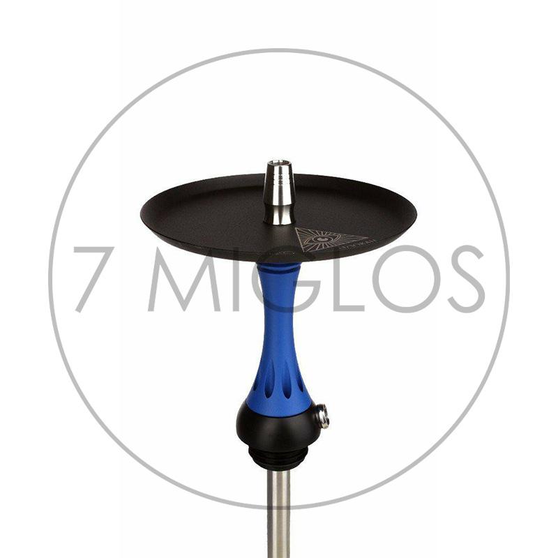 Hookah Alpha Hookah X-Blue Matte plate 7 Miglos