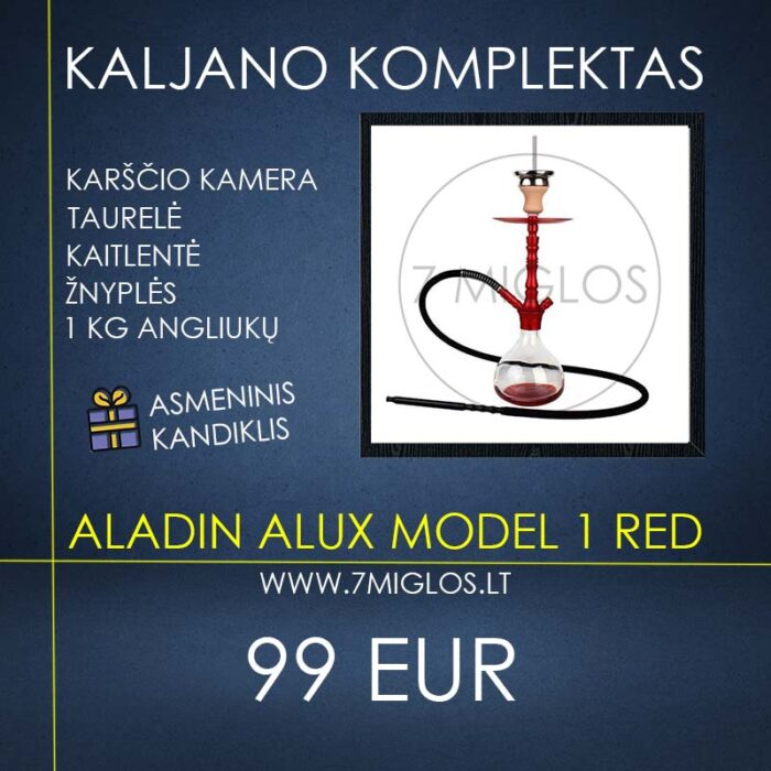 Kaljano komplektas Aladin Alux Model 1 Red
