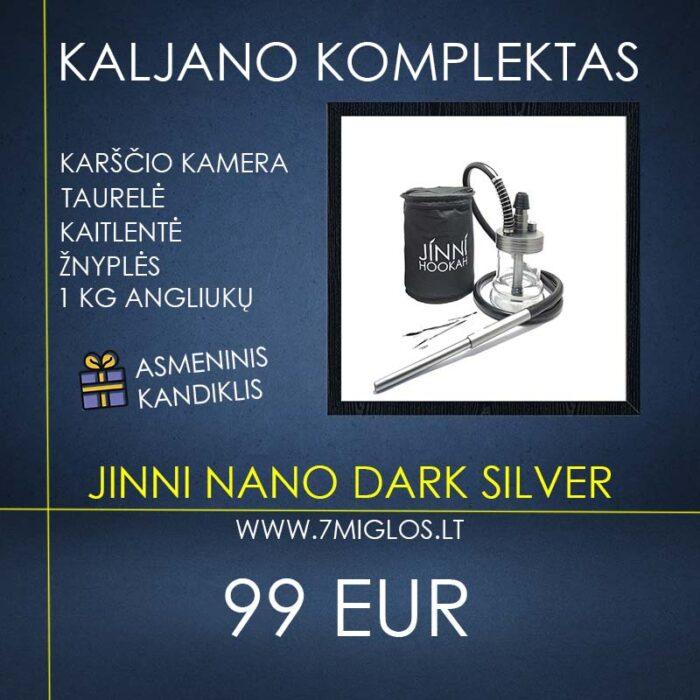 Kaljano komplektas JINNI Nano Dark Silver