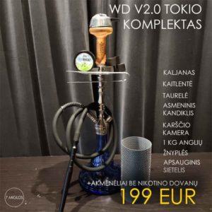 WD HOOKAH V2.0 TOKIO BLUE komplektas