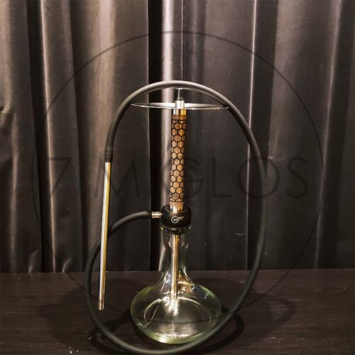 Kaljanas Geometry Hookah Little Bro Honneycomb Gray