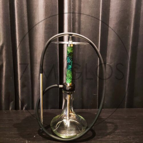 Kaljanas Geometry Hookah Little Bro Rhombus Epox Green Lake