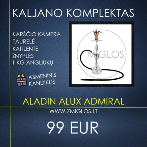 Kaljano komplektas Aladin Alux Admiral Silver