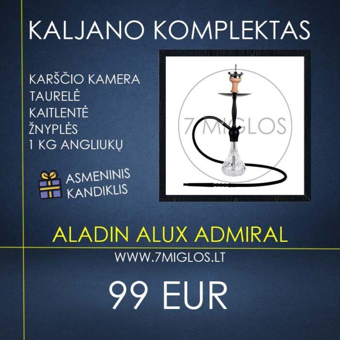 Kaljano komplektas Aladin Alux Admiral Black