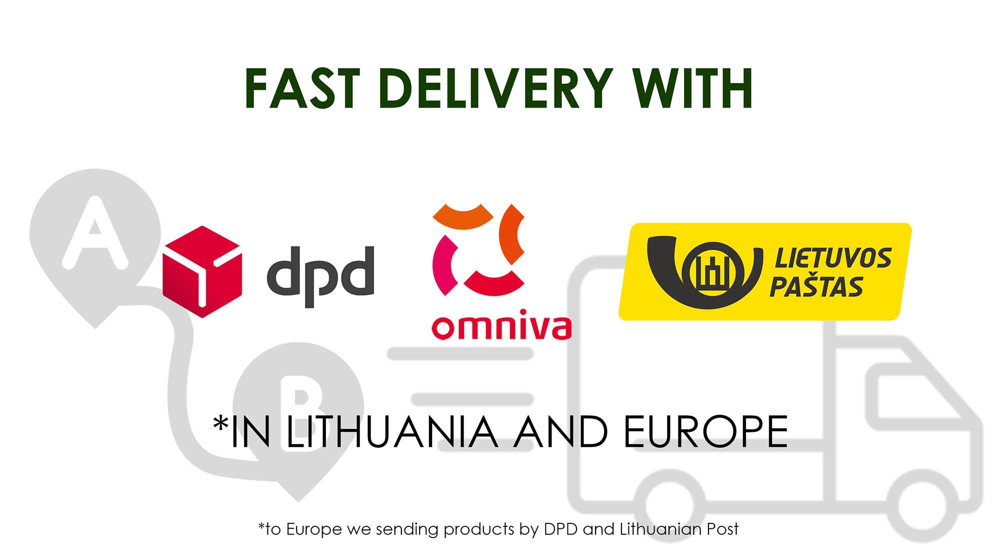 Pristatymas Lietuvoje ir Europoje EN